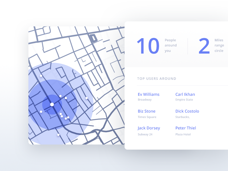 Map/Location UI Inspiration