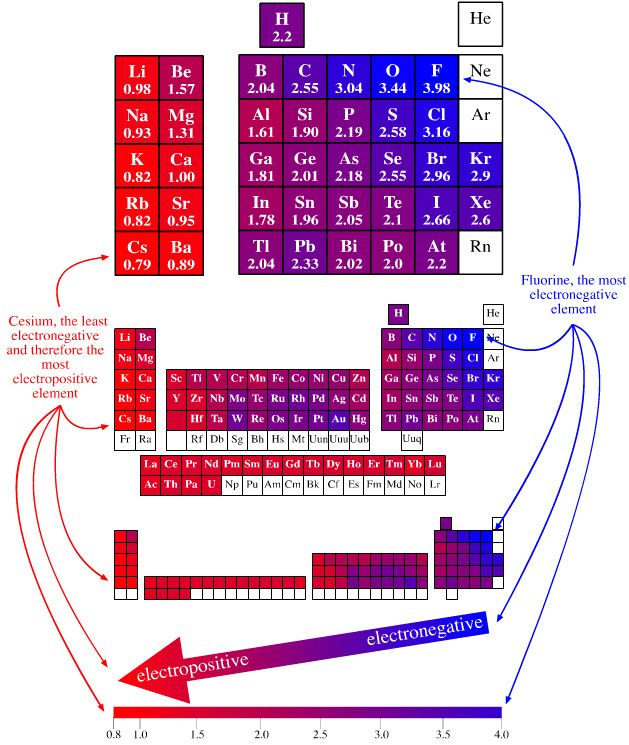 Electronegativity Periodic Table | Periodic Tables / Taules
