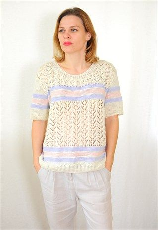 VINTAGE 80'S KNITTED TOP