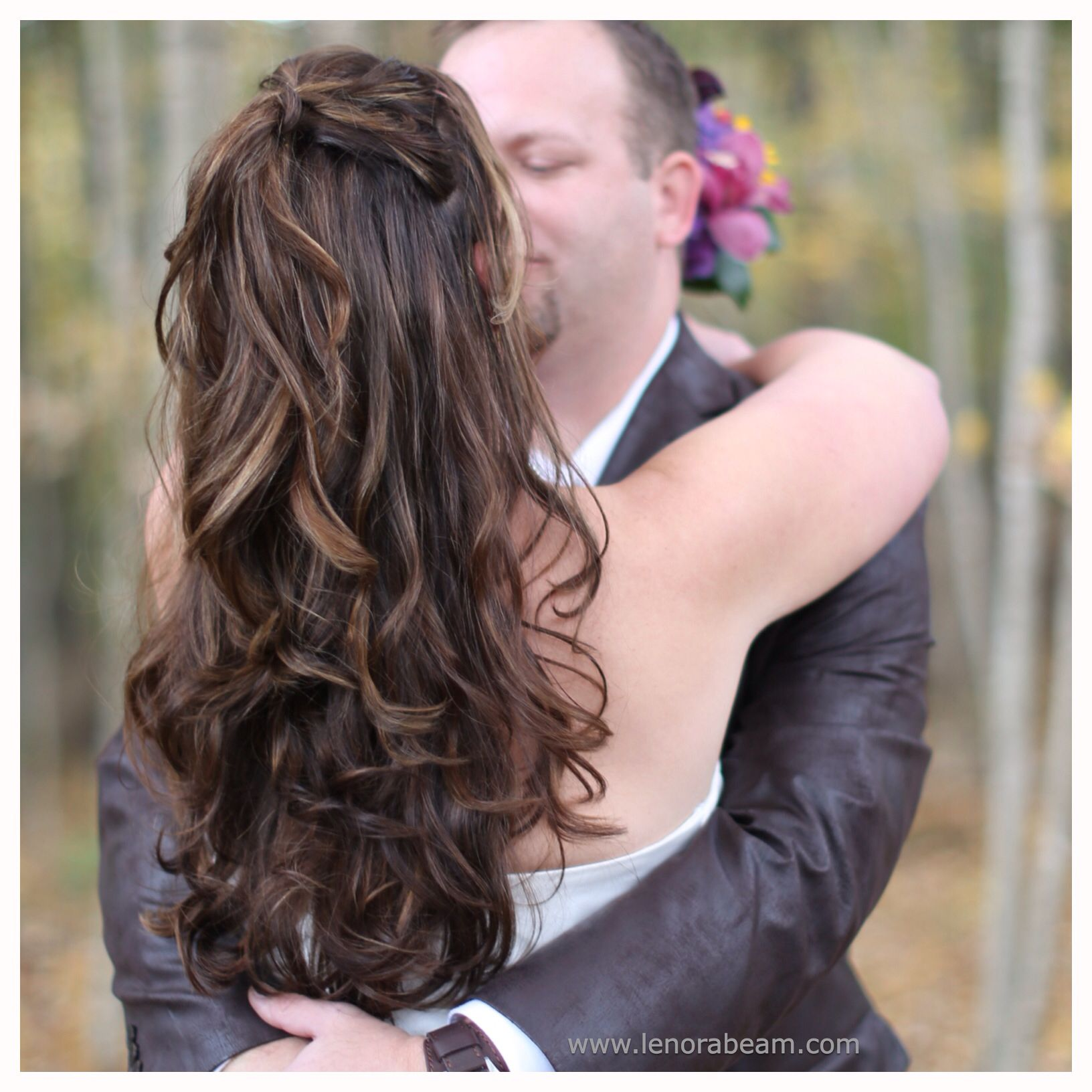 35 Gorgeous Wedding Hairstyles Which Are Half Up: Wedding Hair. Long Sexy Curls. Gorgeous Hair Color