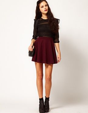 81f2df5cc094 Oxblood is hot for Fall and Winter! Red Skirts