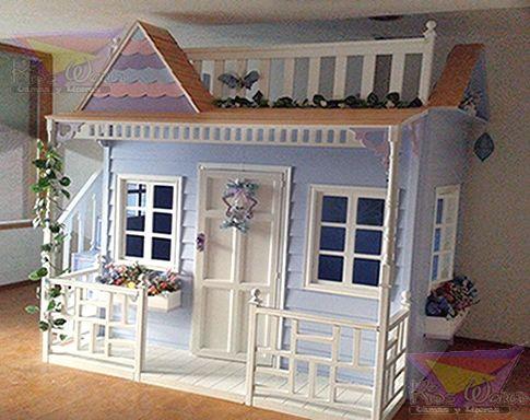 Camas en forma de casitas y castillos para ni a imagen 3 for Cama de casita