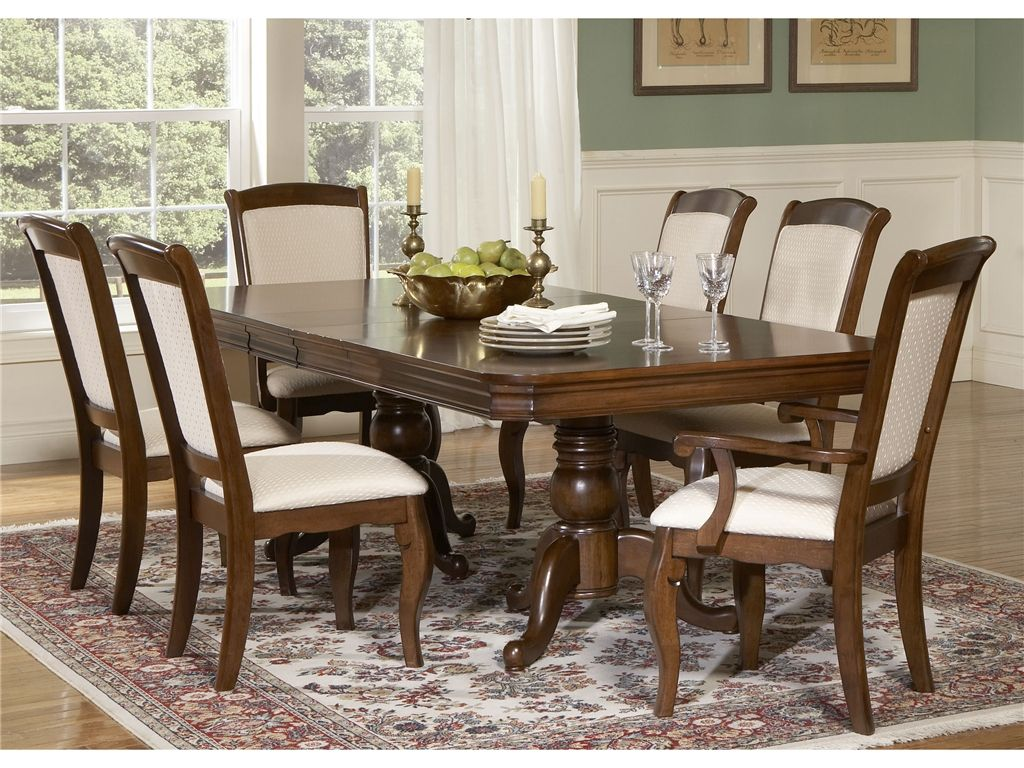 Gaviagans   Liberty Furniture Dining Room Double Pedestal Table ...