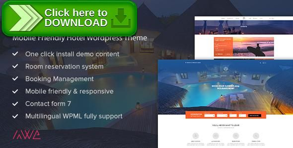 Free Nulled Mojado   Mobile Friendly Hotel WordPress Theme Download   Free  Reservation Forms