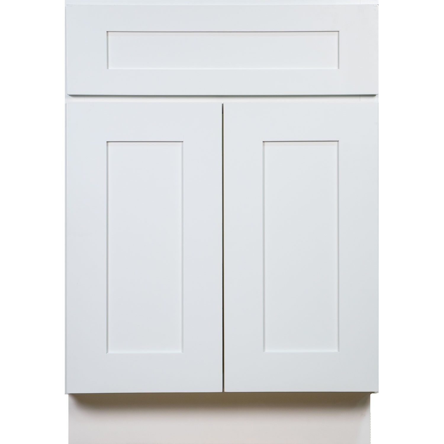 Bathroom Vanity Single Sink Cabinet in Shaker White with Soft Close ...