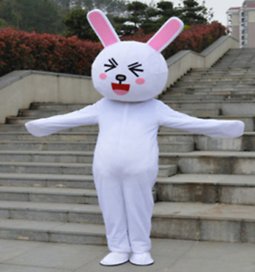 Easter Cute Mascot Costume Rabbit Cartoon Dress Adult Size Only Clothing 2019