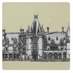 Trend Biltmore House Square Wall Clocks make for a great memento of the big day. Prints are also available here http://www.wedding-venue-art.com/