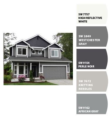 I Just Spotted The Perfect Colors Gray House Exterior Exterior House Paint Color Combinations House Exterior Color Schemes
