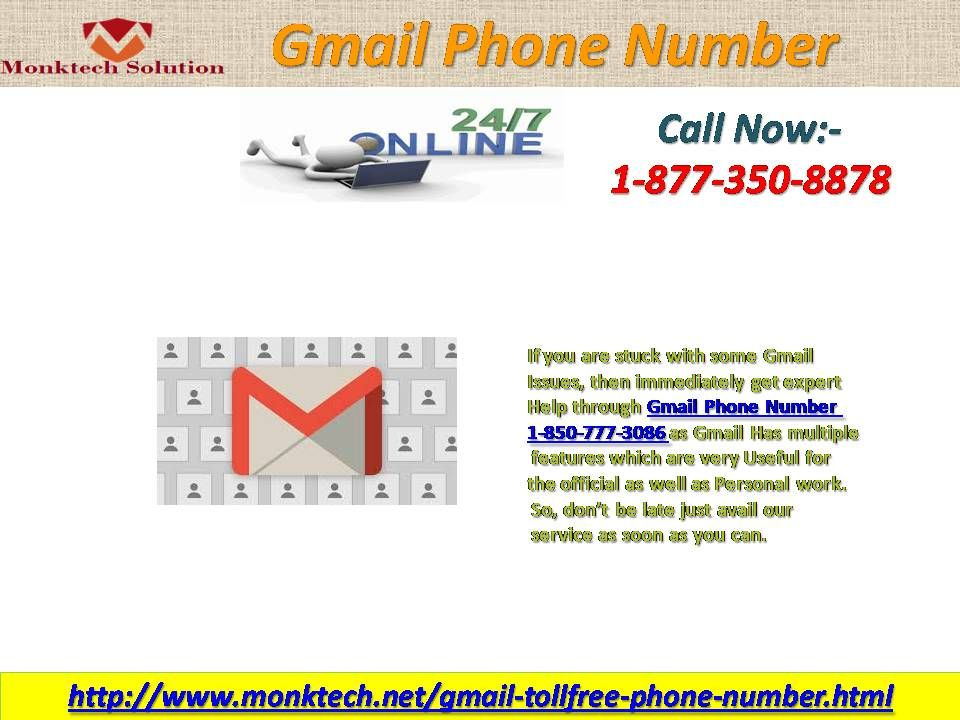 Willing to get inconceivable Services? Dial Gmail Phone Number 1-877