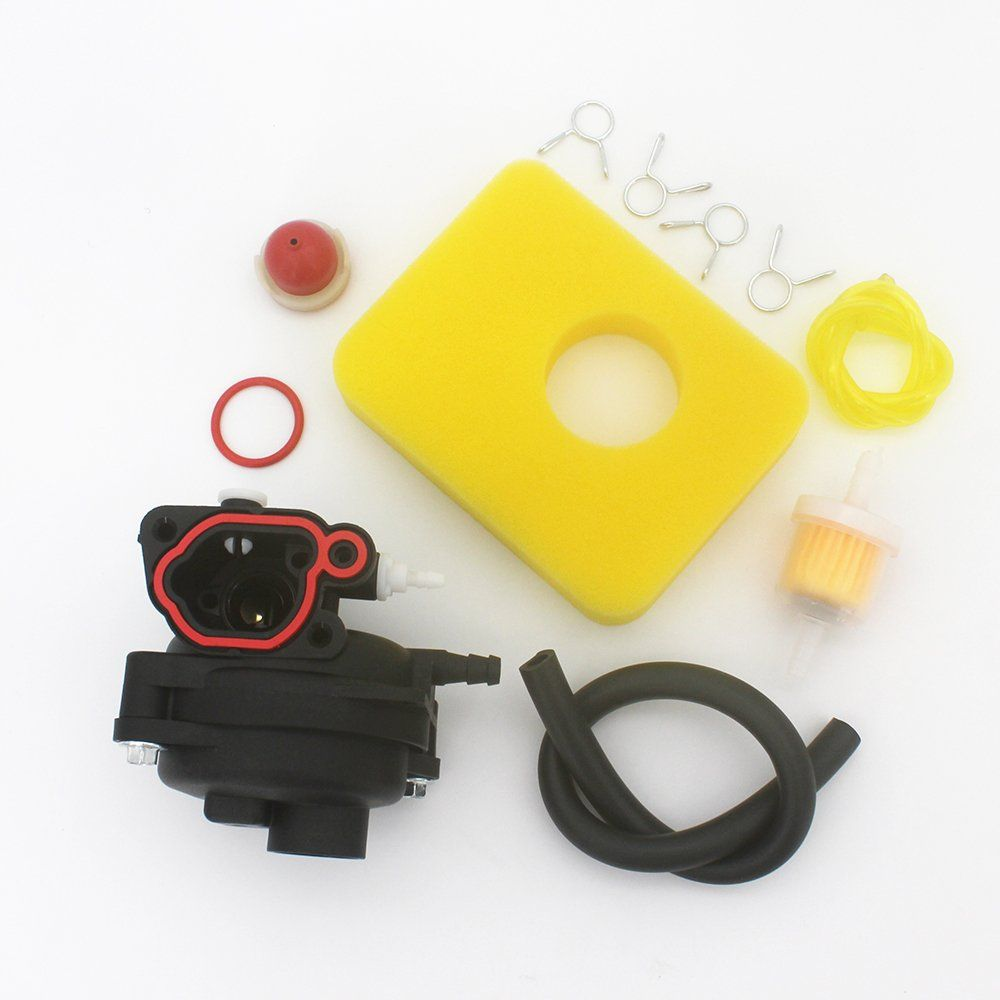kipa carburetor air filter fuel filter maintenance kit for briggs and stratton 799583 lawn mower edger [ 1000 x 1000 Pixel ]