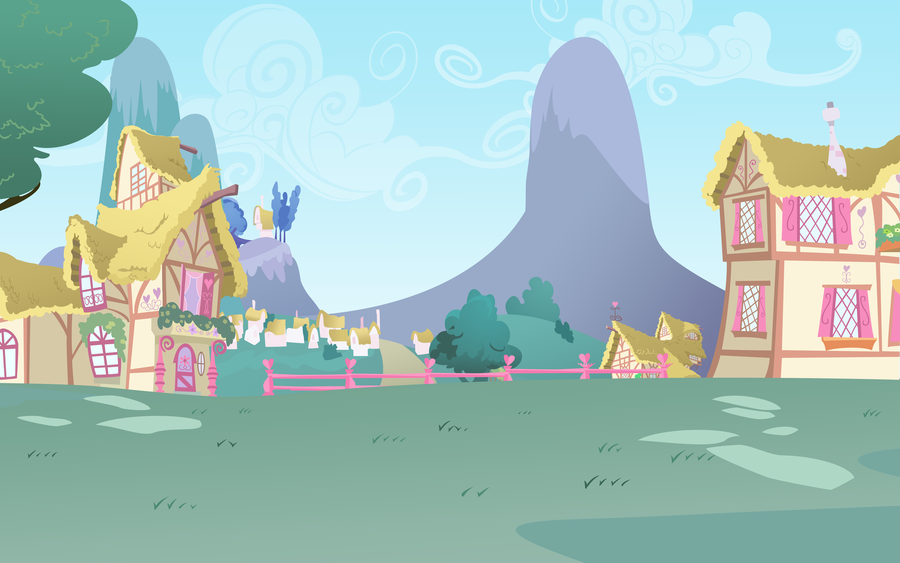 ponyville background by lightf4lls on deviantart alice pinterest