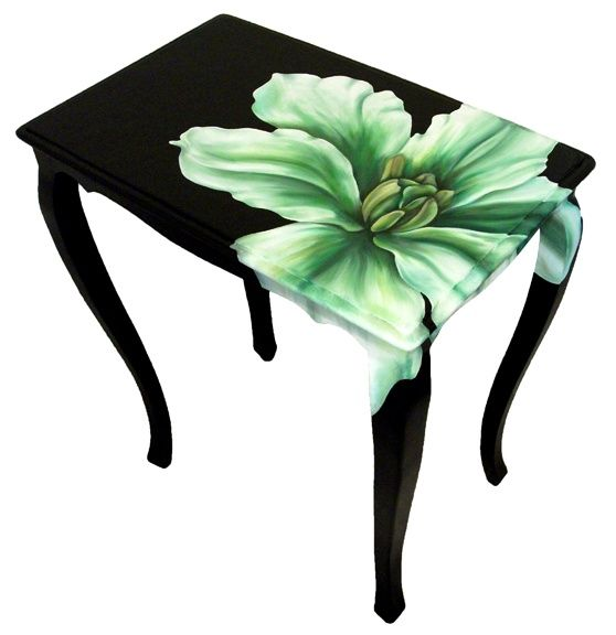 flower painted furniture like the idea but itu0027s a little on the dark side