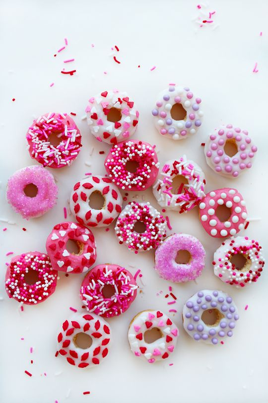 valentine mini baked doughnuts crazy style love