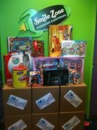 Smile Zone Pediatric Dentistry hosts several fun themed days and events. This is the prize give-away stack for our Halloween Candy Buy Back event.