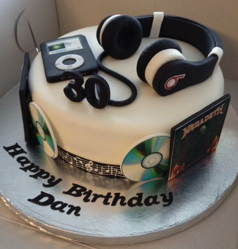 Birthday Cake Ideas Music : Music Theme Birthday Cake Edible Bliss Cakes Pinterest ...