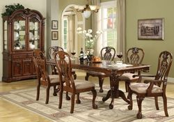 This complete set brings great look and tradition to your sophisticated dining room!