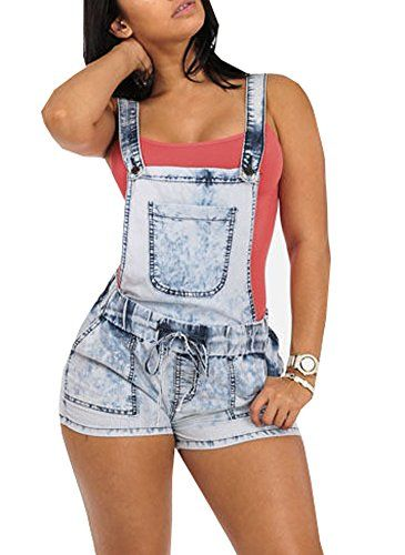Viishow sexy half sleeve denim jeans jumpsuit bodysuit shorts romper playsuit