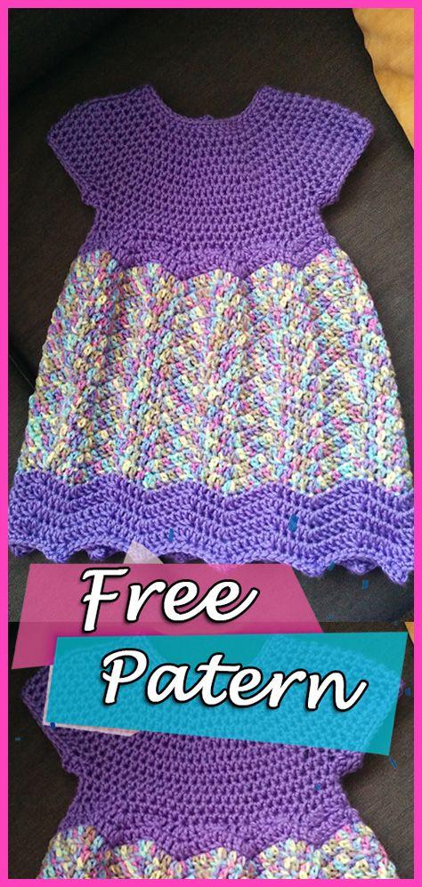 Chevron Chic Baby Dress Free Patten Crochet #crochet #freepattern ...