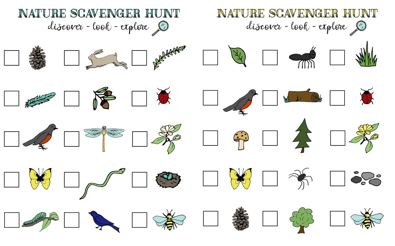 Nature Scavenger Hunt And Summer Adventures