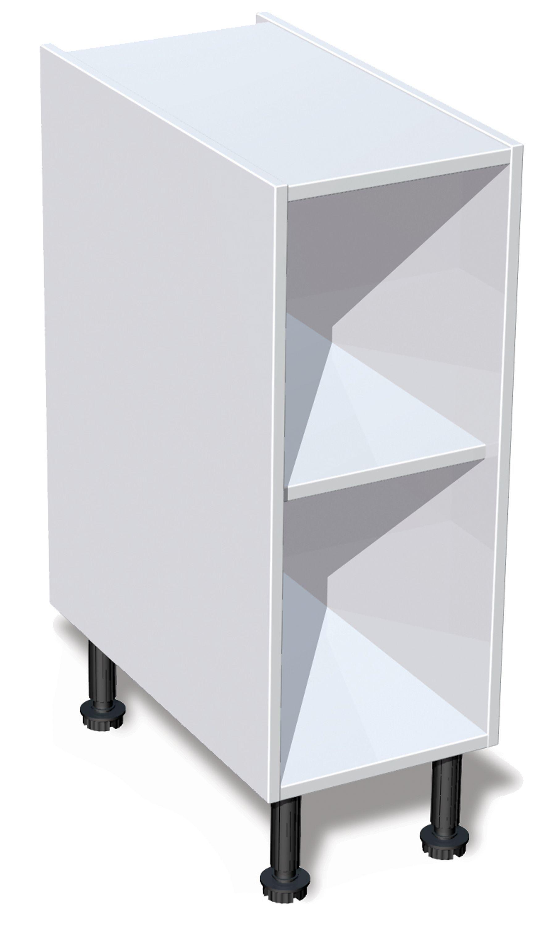Best It Kitchens White Base Cabinet Unit Carcass W 300Mm 400 x 300