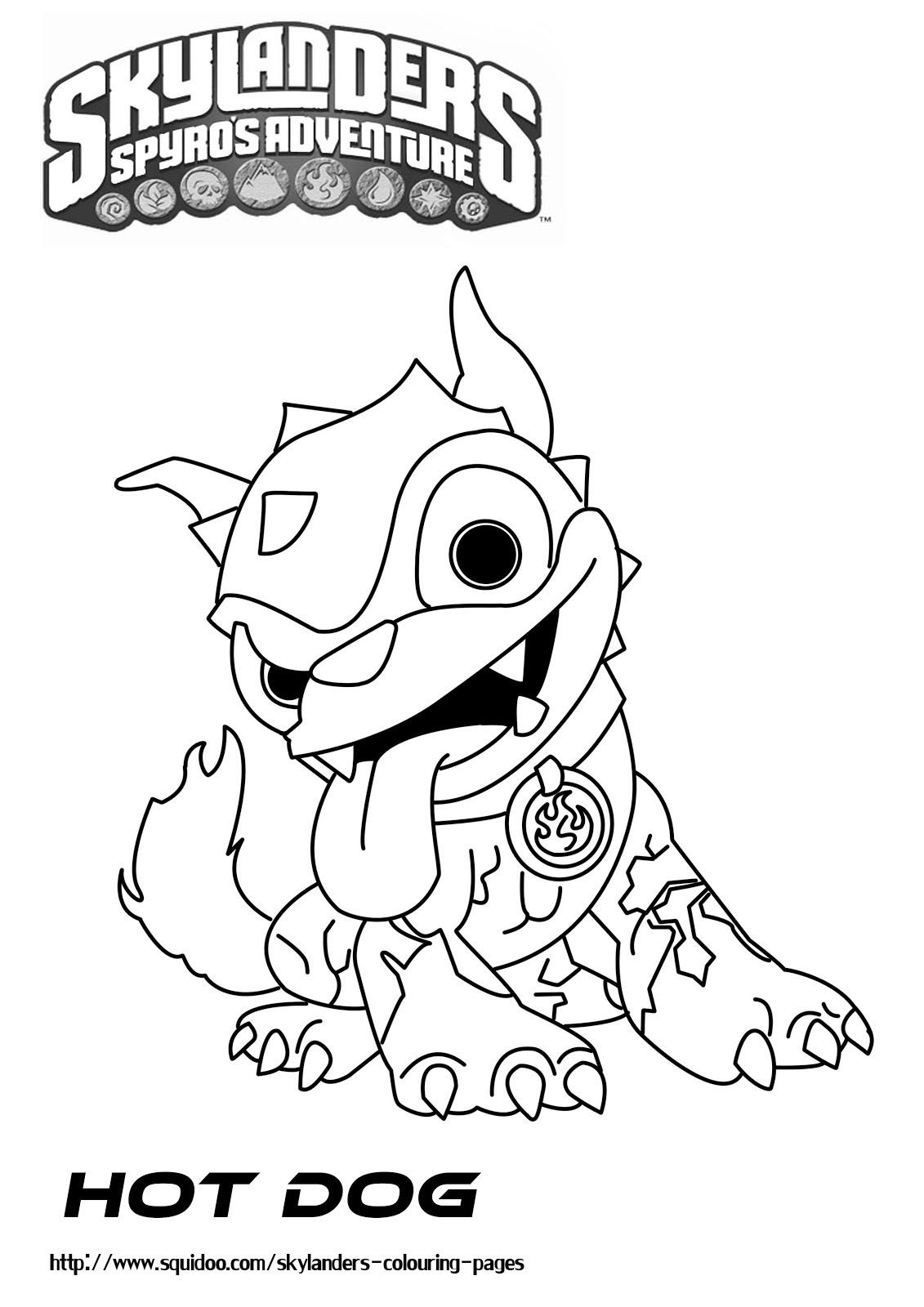 Skylanders Printable Coloring Pages