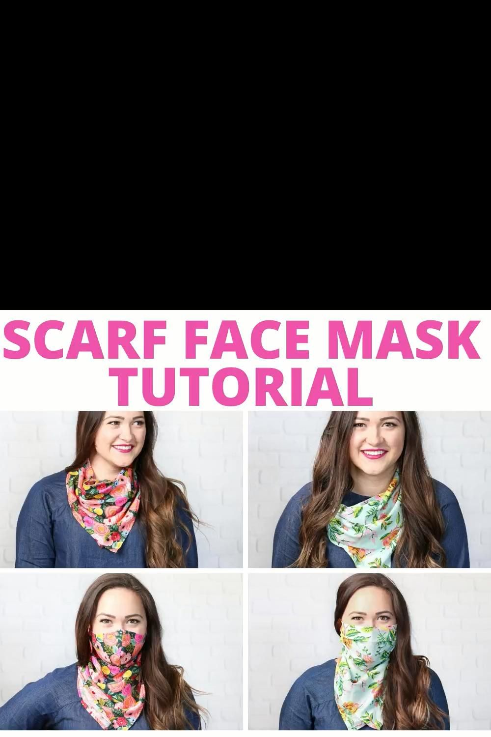 Photo of How to Sew a Scarf Face Mask FREE Pattern