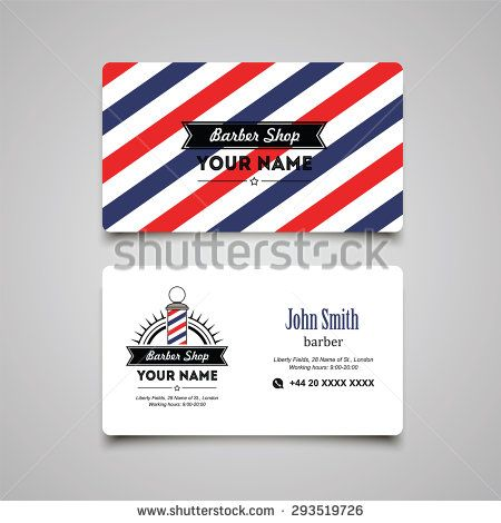 Hair salon barber shop business card design template barber shop hair salon barber shop business card design template colourmoves Gallery