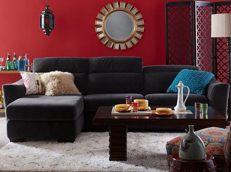 Macyu0027s Kenton Sectional And Kenton Fabric Sectional Sofa 2 Piece Chaise And Kenton  Fabric Sofa Living