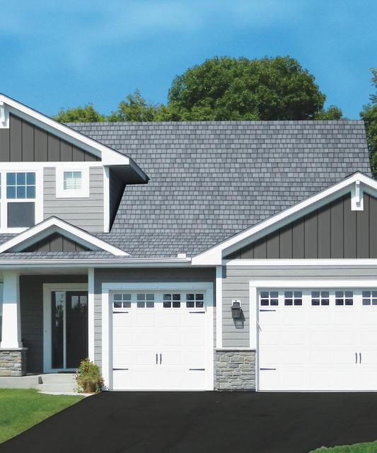 One Car Garage With Lap Siding 69471am: Image Result For Stone Trim, Lap Siding, With Board And