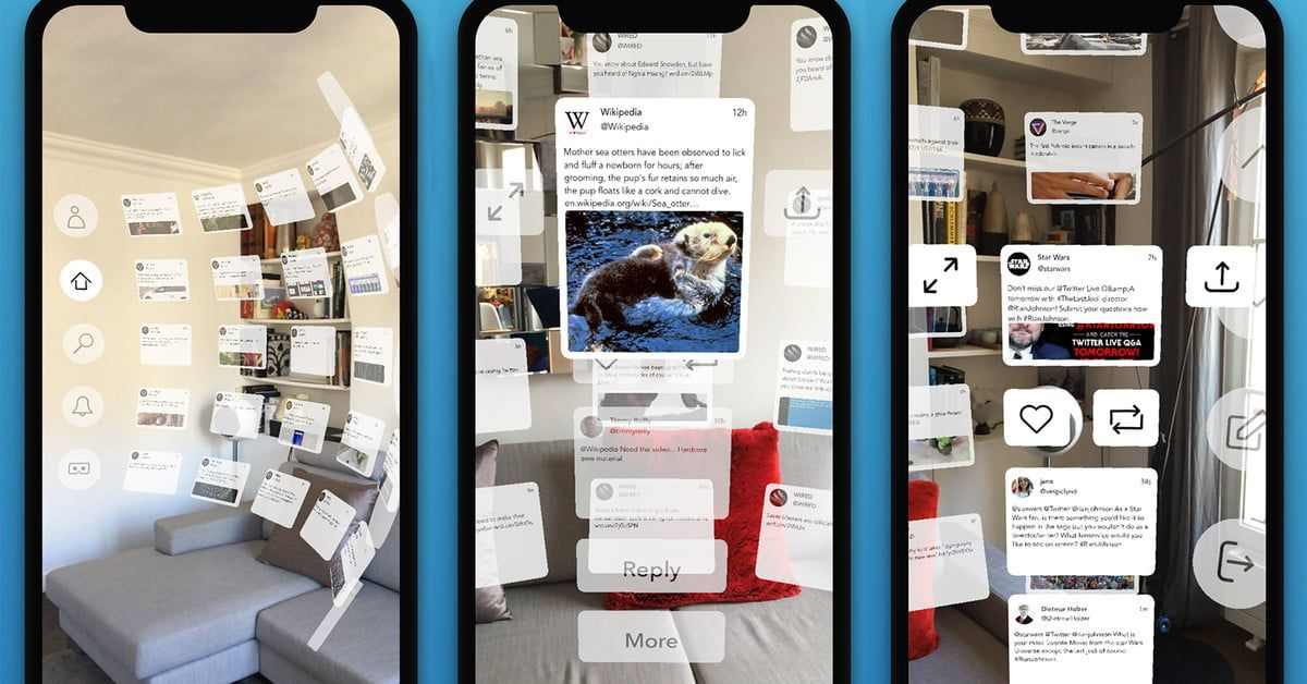 TweetReality Reimagines Twitter in Augmented Reality