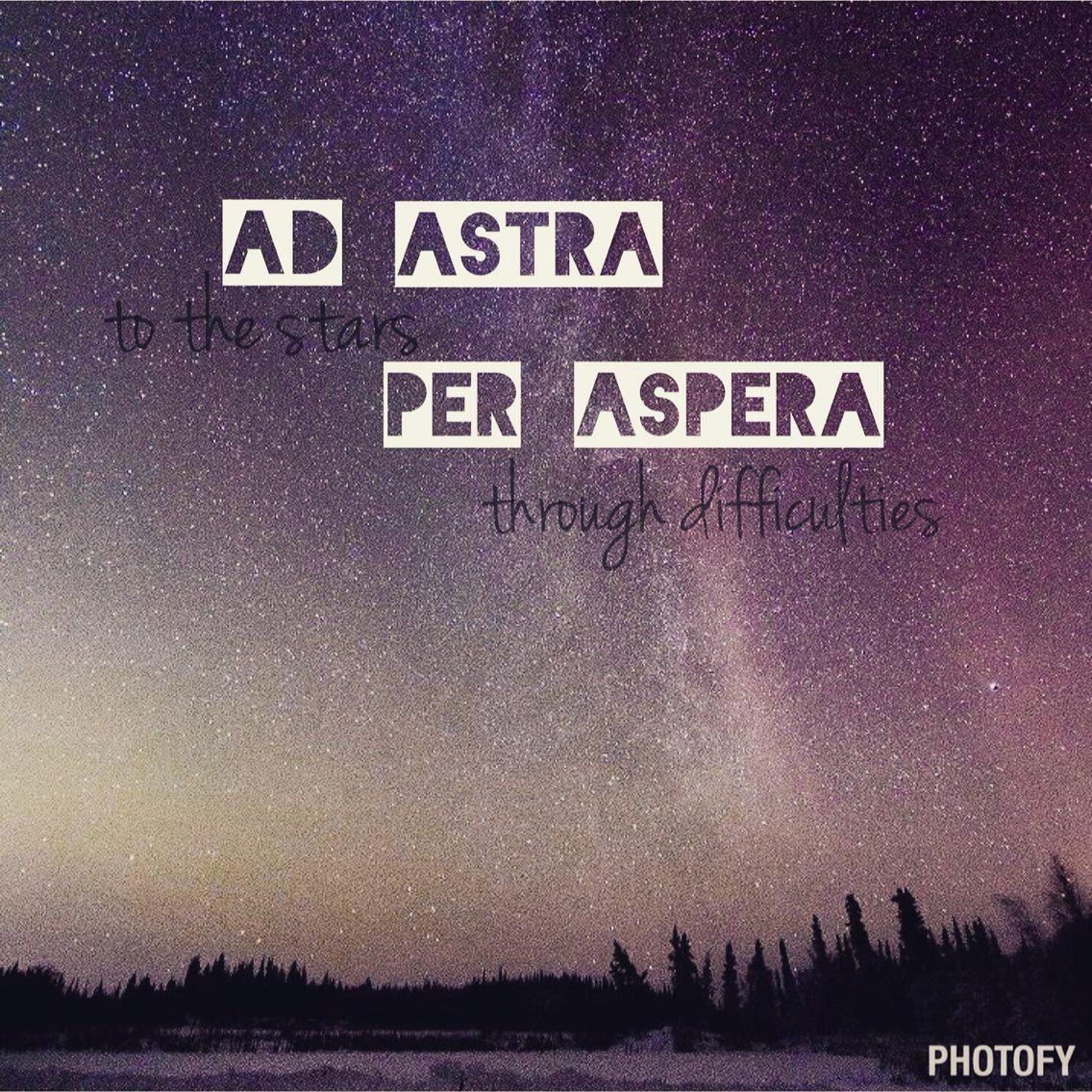 Перевод пер аспера ад астра