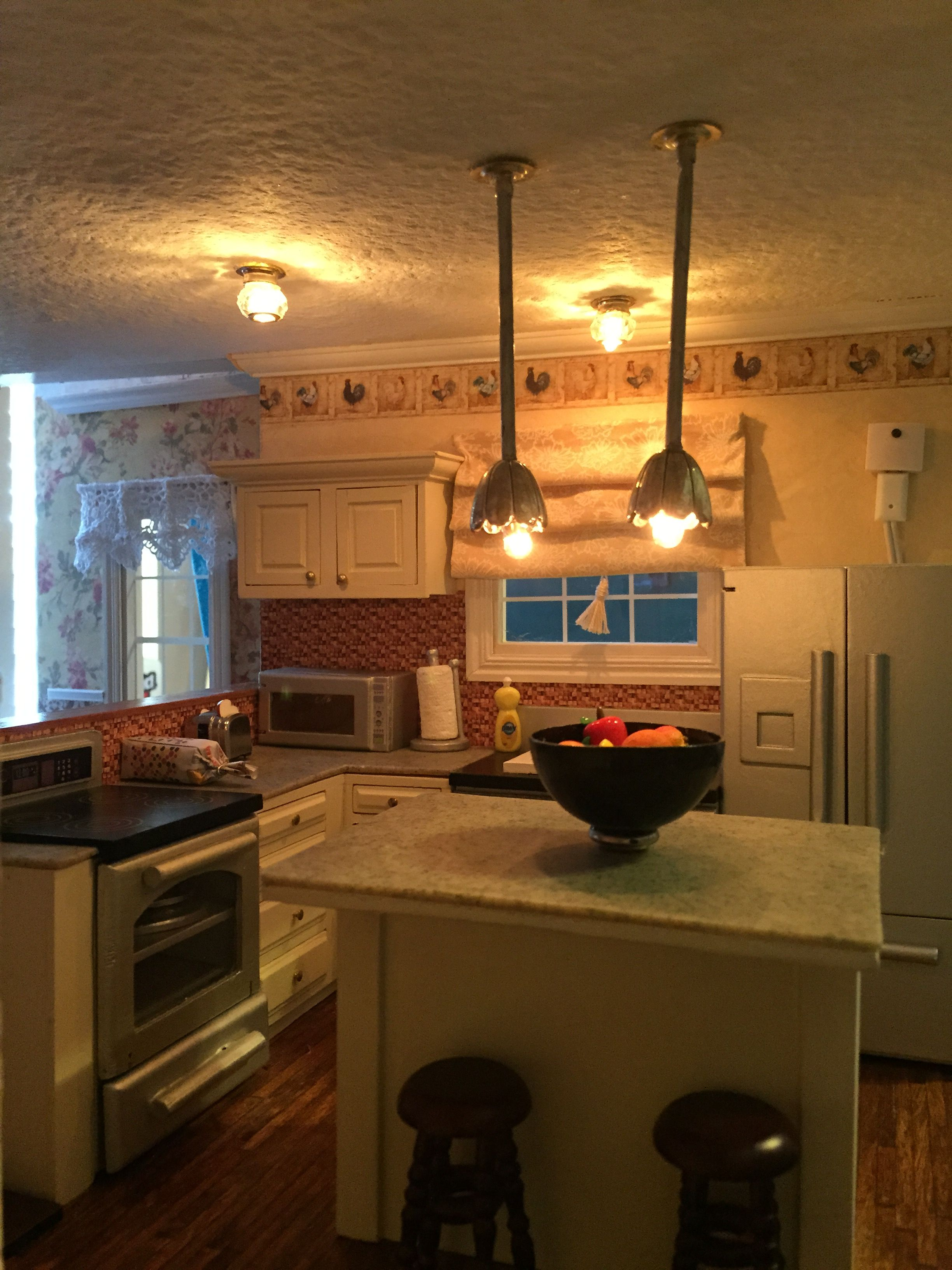 Kitchen wallpaper border  Kitchen Granite counter top is FEMO rolled out cut to fit u baked