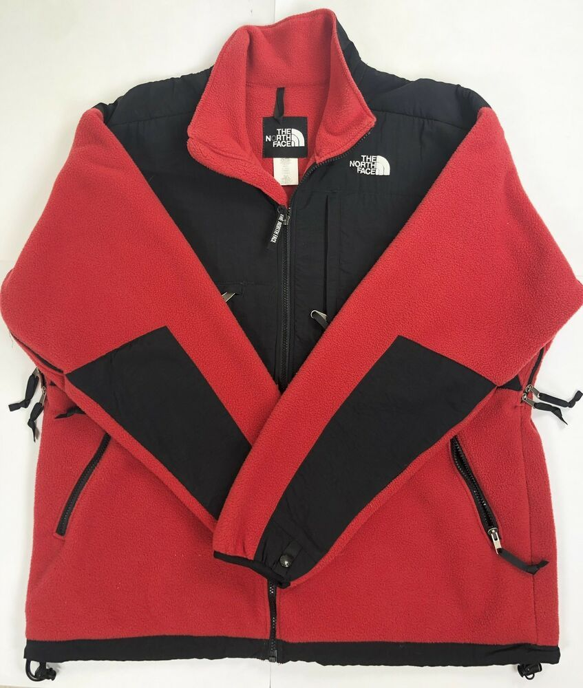 Vintage 90s The North Face Denali Fleece Jacket Red Black Mens Xl Euc Fashion Clothing Shoes Accessories Mensclothi Red Jacket Fleece Jacket Coats Jackets [ 1000 x 847 Pixel ]