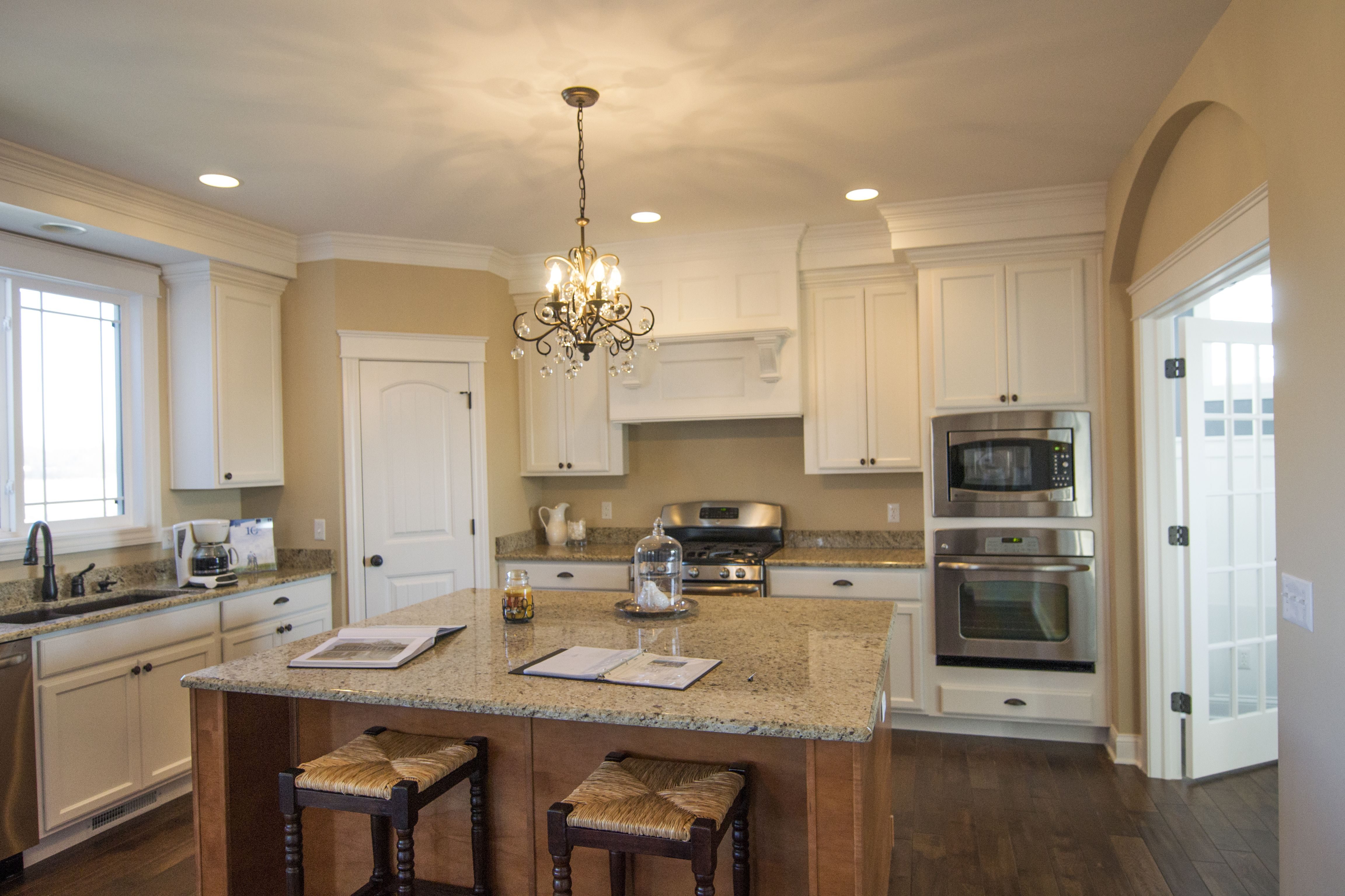Our Kitchen In The Alexandria The Model Home Come On In Any Time New Home Builders Home Home Builders