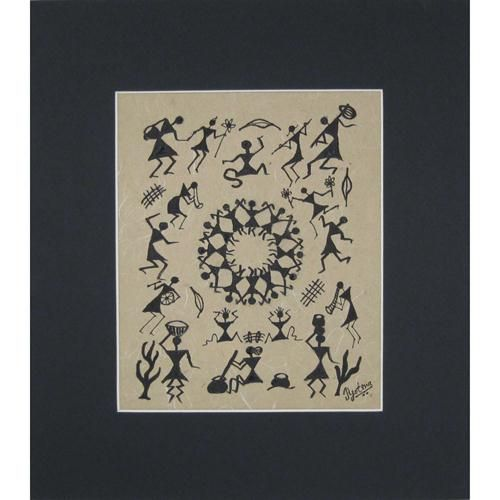 Bedroom Decoration Warli Art Wall From India Modern Painting Buy Direct Online