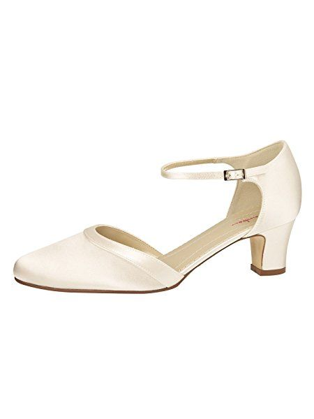 Brautschuhe Rainbow Club /Anika/ Satin (39 EU, Ivory): Amazon.