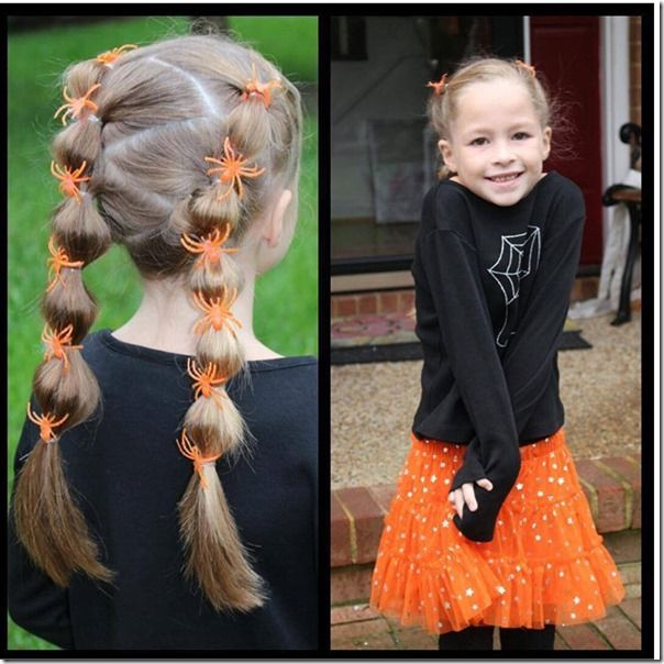 Spider accented bubble braid