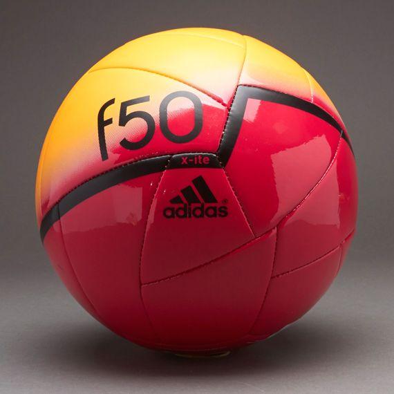 29a856263 #PDSmostwanted adidas Footballs - adidas F50 X-ite Ball - Football Balls -  Solar Zest-Black-Vivid Berry Size:5