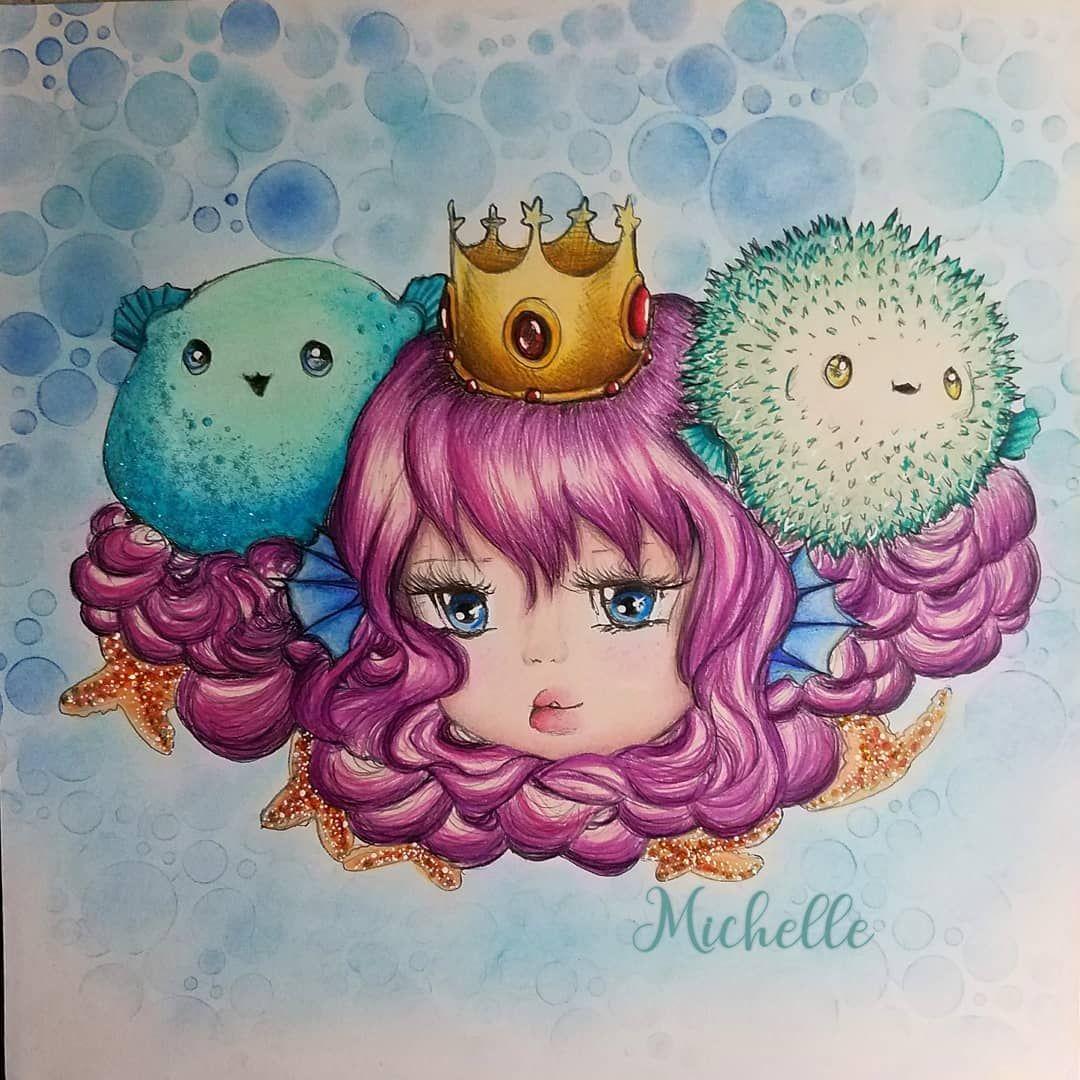 Michelle On Instagram From Pop Manga Mermaids By Camilla D Errico Popmangacoloringbook Popmangamer Manga Coloring Book Mermaid Coloring Book Manga Mermaid