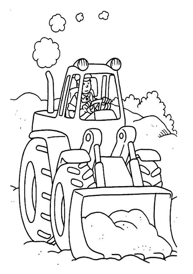 Printable Coloring Pages of Tractor | Kleurplaten Miguel | Pinterest ...
