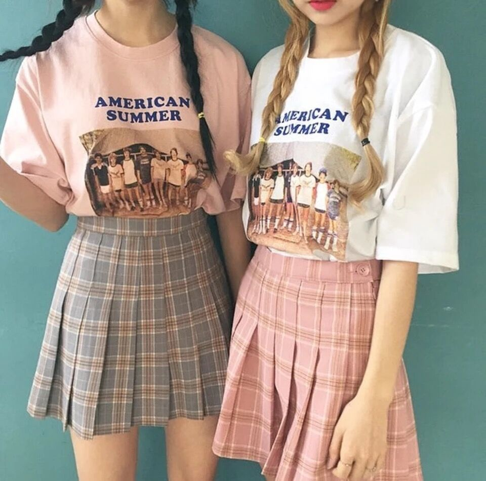 Chic Style Korean Checkered Plaids Mini Skirt Plaid Fashion Fashion Pleated Tennis Skirt