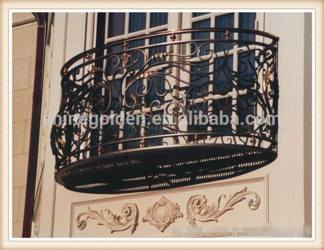 Customized Wrought Iron Balcony Railing Designs View Iron Balcony