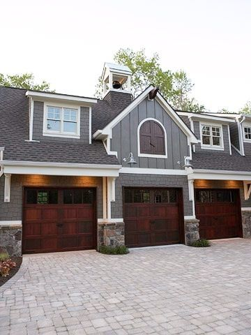 the garage doors and the stonework on pillars | Garage Doors ... on signs and more, blinds and more, kitchen cabinets and more, painting and more, air conditioning and more,