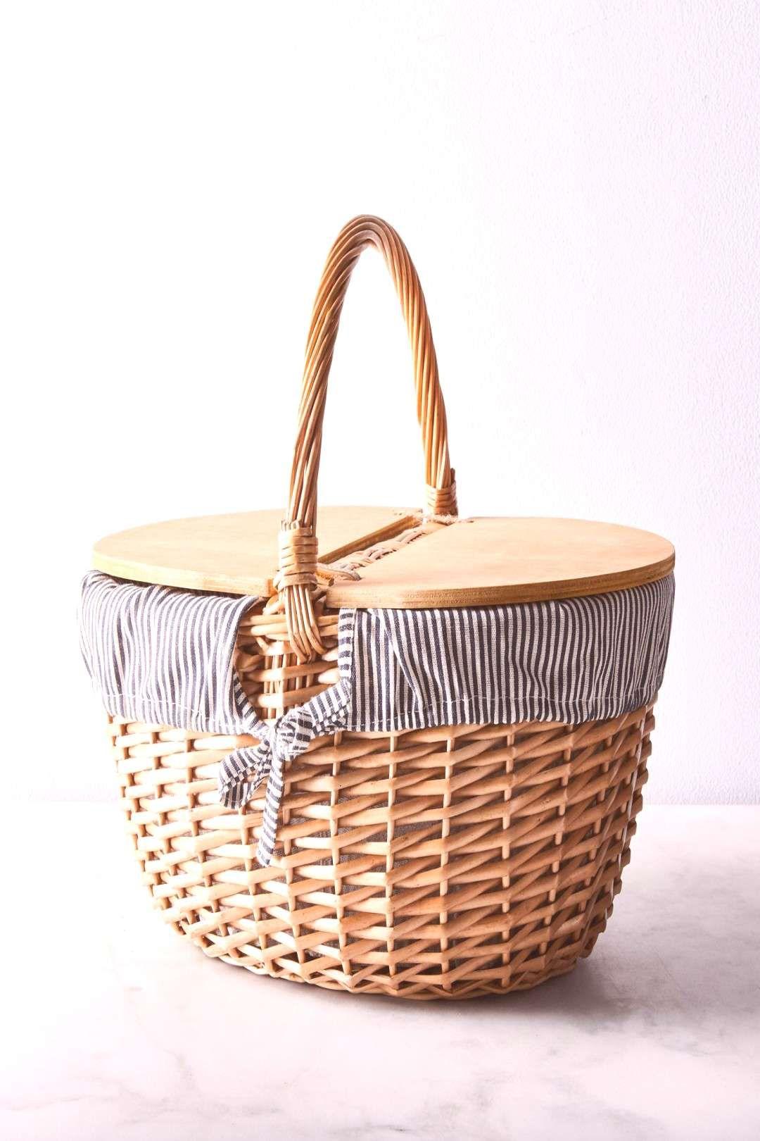 #stripe #picnic #basket #food52 #white #blue #on Blue ...