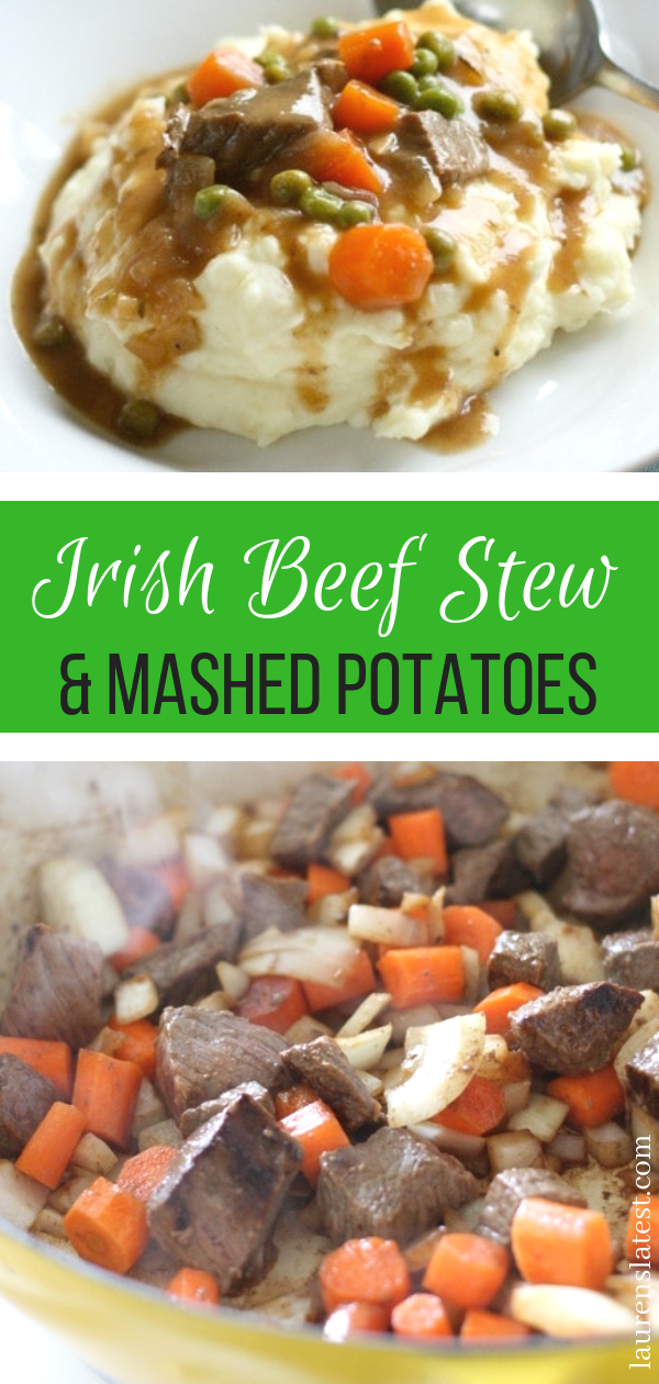 Traditional Irish Beef Stew with Mashed Potatoes images