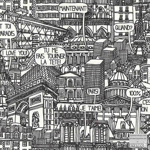 Muster Tapete Franzosische Stadt Jugendzimmer Paris Bilder