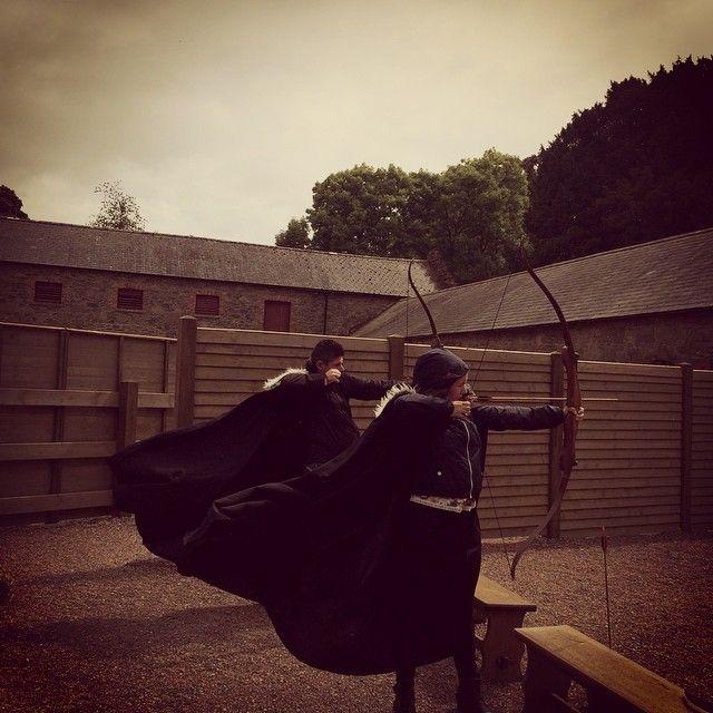 GOT archery at Winterfell