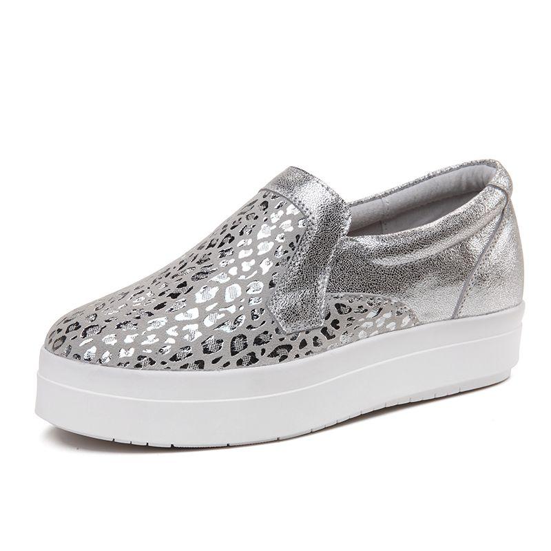 New design women shoes luxury brand Leopard scale pattern slip on women s loafers  slip on height 274580d18cb8
