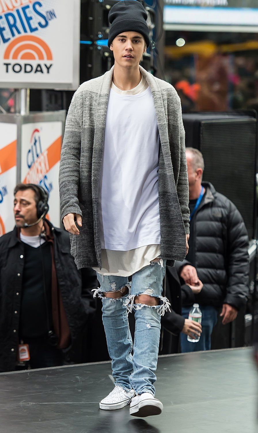 Justin Bieber Proves It's Not Your Grandpa's Cardigan Anymore #style #mensfashion #streetstyle