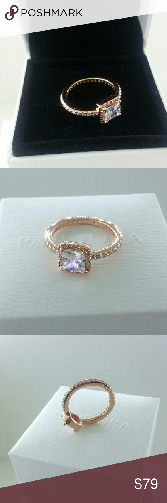 38eedaaf9 ... Pandora Rose Gold Timeless Elegance Ring 6 Pandora Rose Gold Timeless  Elegance Ring 180947CZ Size 52 ...